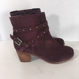 Matisse Camryn Suede Leather Zip Ankle Boots 7 M